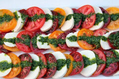 tagAlt.Camoni Tomatoes with Tropea Onions Cherries and Crescenza