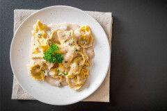 tagAlt.Classic Potato filled Tortelli with Pecorino and Onion Sauce