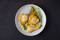 tagAlt.Fried Zucchini Blossoms