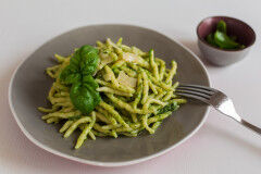 tagAlt.Ligurian Trofie pasta with Basil Pesto Sauce