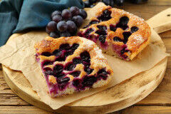 tagAlt.Sweetened Focaccia with Fresh Grapes