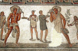 tagAlt.Ancient Rome wine drinking mosaic Cover