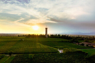 tagAlt.Lugana San Martino tower Lake Garda sunset Cover