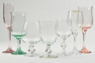 tagAlt.Old school wine glass set different colors Cover