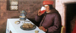 tagAlt.Painting of Medieval Man drinking wine Cover