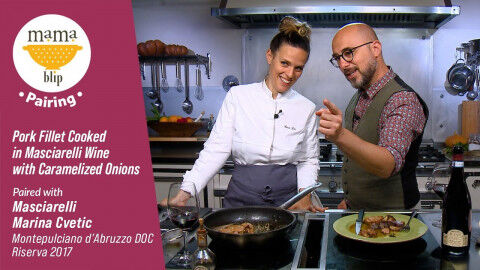 tagAlt.Pork Fillet Cooked Caramelized Onions
