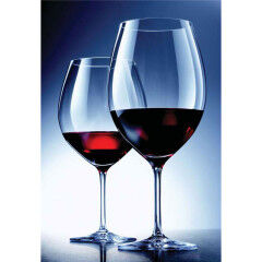 tagAlt.Beautiful red wine glasses blue background 4