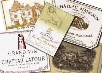 tagAlt.Bordeaux vintage labels cru 1