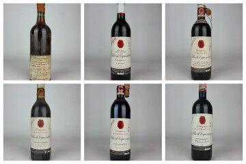 tagAlt.Capezzana 1930 1995 vertical tasting bottles 9