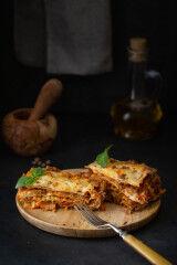 tagAlt.Meat lasagna alla Bolognese serving 2