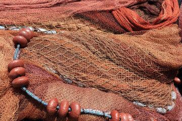 tagAlt.Red Italian fishing nets Sicily 5