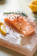 tagAlt.Salmon fillet on salt table 5