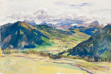 tagAlt.Sargent watercolor Dolomites 3