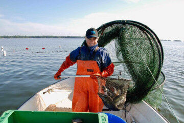 tagAlt.Smiling fisherwoman catch 1